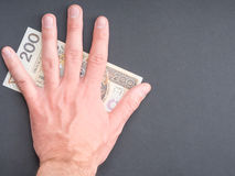 Bescherm uw poetsmiddelgeld Royalty-vrije Stock Afbeeldingen
