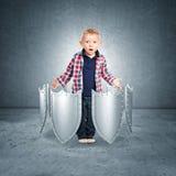 Bescherm uw zoon Stock Foto