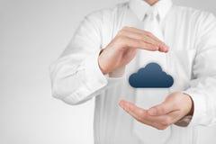 Bescherm wolk gegevensverwerkingsgegevens Stock Foto