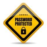 Beschermd wachtwoord Royalty-vrije Stock Foto's