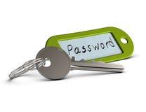 Beschermd wachtwoord, beperkte toegang Stock Afbeelding