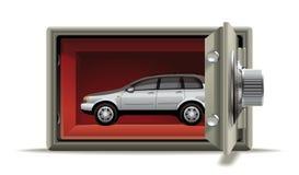 Beschermde auto Royalty-vrije Stock Afbeeldingen