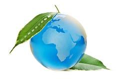 Beschermde blauwe planeet Stock Foto