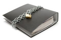Beschermde Dossiers Royalty-vrije Stock Fotografie