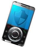 Beschermde smartphoneillustratie Stock Afbeeldingen