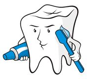 Beschermde tand Stock Foto's