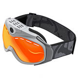 Beschermende brillen voor het snowboarding Royalty-vrije Stock Fotografie