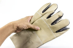 Beschermende handschoenen Stock Afbeeldingen