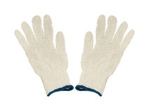 Beschermende Katoenen Handschoenen Stock Foto's