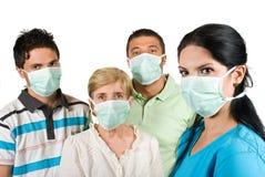 Bescherming tegen griep Stock Foto