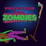 Bescherming tegen zombieën royalty-vrije illustratie