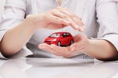 Bescherming van auto (concept) Stock Afbeeldingen