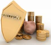 Bescherming van financiën Stock Foto