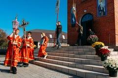 Bescherming van Onze Heiligste Dame Theotokos en ooit-Virgin Mary Stock Foto