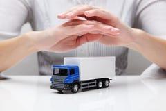 Bescherming van vrachtwagen (concept) Royalty-vrije Stock Fotografie