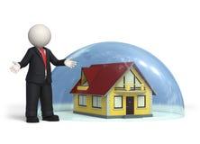 Bescherming - Verzekering - Huis Royalty-vrije Stock Afbeelding