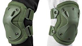 Bescherming voor de knieën en de ellebogen stock foto's