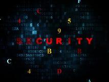 Beschermingsconcept: Veiligheid op Digitale achtergrond Stock Fotografie