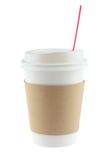 Beschikbare koffiekop stock foto