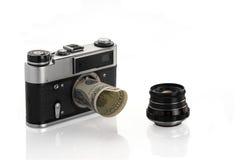 Beschikbare lens Stock Afbeeldingen