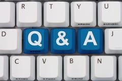 Beschikbare vragen en Antwoorden Royalty-vrije Stock Foto's