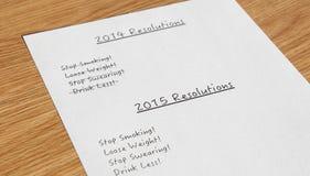 Beschlüsse 2014 des neuen Jahres Lizenzfreies Stockbild