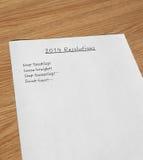 Beschlüsse 2014 des neuen Jahres Stockbild