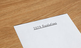Beschlüsse 2014 des neuen Jahres Lizenzfreie Stockbilder