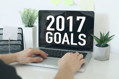 Beschlüsse des neuen Jahres für 2017 Stockfotos