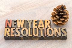 Beschlüsse des neuen Jahres fassen Zusammenfassung in der hölzernen Art ab Stockfoto