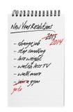 Beschlüsse des neuen Jahres - wieder Stockfoto