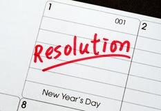 Beschlüsse für das neue Jahr Stockbilder
