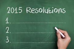 2015 Beschlüsse-Ziele für neues Jahr Lizenzfreie Stockfotografie