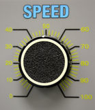 Beschleunigen Sie Vorwahlknopf Stockbilder