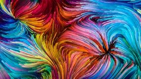 Beschleunigung von Digital-Farbe stock abbildung