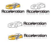 Beschleunigungs-Automobilschaukasten Stockfotografie