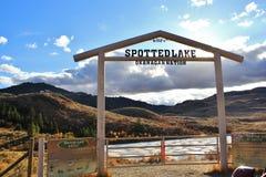 Beschmutzter See in Okanagan Vallye, Osoyoos, Britisch-Columbia Lizenzfreie Stockfotografie