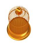 Beschränkung: Goldener Birdcage getrennt Lizenzfreies Stockfoto