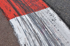 Beschränkungen auf Formel 1spur Lizenzfreies Stockbild