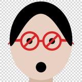 Beschränkungsgläser, die verbieten, um leeren Hintergrund aufzupassen stock abbildung