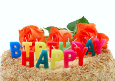 Beschreibung-alles Gute zum Geburtstag Lizenzfreies Stockbild