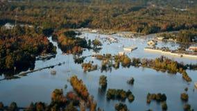 Beschreibung der Überschwemmung nach einem Hurrikan stock video footage