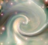 Beschreibung der gewundenen Galaxie Lizenzfreies Stockbild