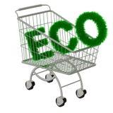 Beschreibung ECO im Supermarktwagen stock abbildung