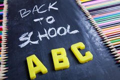 Beschreibung - zurück zu Schule Lizenzfreie Stockfotos