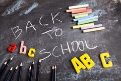 Beschreibung - zurück zu Schule Lizenzfreies Stockfoto