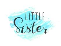 Beschriften der kleinen Schwester des Zitats für Babykleidung vektor abbildung