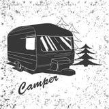 Beschriften der Reise, typografisch, Camper Lizenzfreie Stockfotos