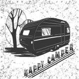 Beschriften der Reise, typografisch, Camper Lizenzfreies Stockfoto