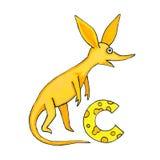 Beschriften Sie C für Fantasie-kyrillisches Alphabet - Azbuka mit nettem Atemzug Lizenzfreie Stockfotografie